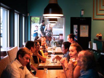 Restaurant People Eating Socializing Socialize