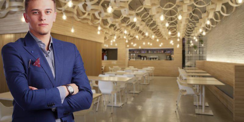 Man Entrepreneur Business Manager Owner Restaurant